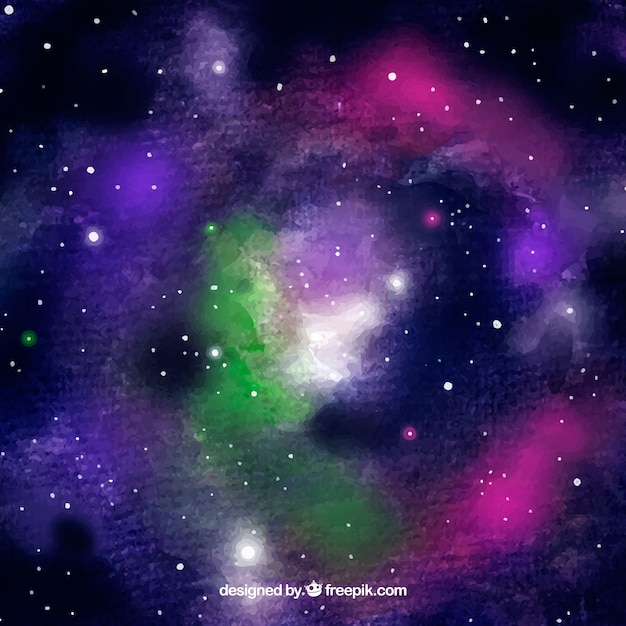 Abstract universe watercolor background