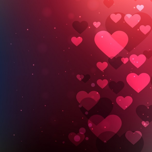 Abstract Valentines Background With Hearts Free Vector