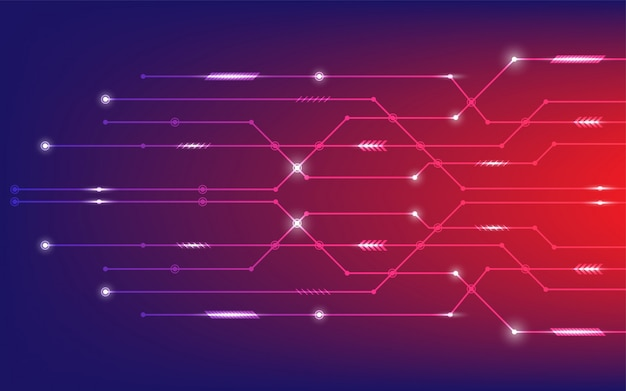 Premium Vector Abstract Vector Background With High Tech Circuit Board Concept