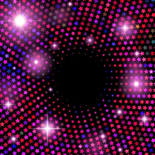光沢のある星と抽象的なベクトルの背景 Premiumベクター