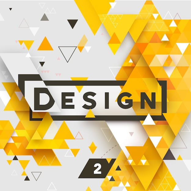Abstract  vector geometrical triangular textured bright background for , business, print, web, ui and other Premium Vector