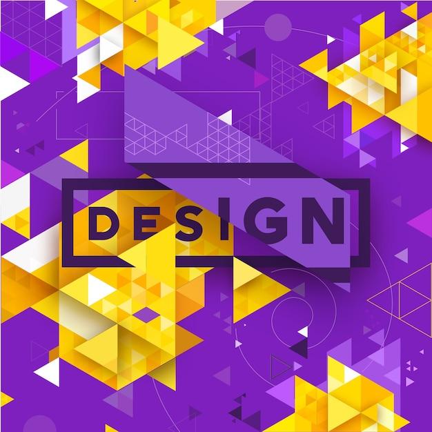 、ビジネス、印刷、ウェブ、ui、その他の抽象的なベクトル幾何学的な三角形のテクスチャの明るい背景 Premiumベクター
