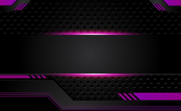 Black And Purple Background With Geometric Vector Image