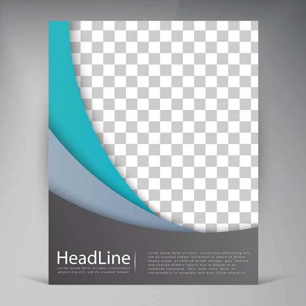 Abstract vector modern flyers brochure. Free Vector