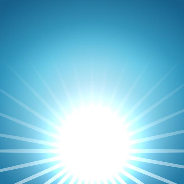 Abstract vector rising sun background Premium Vector