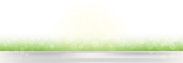 Abstract vector spring defocused banner background with blurred lights Free Vector