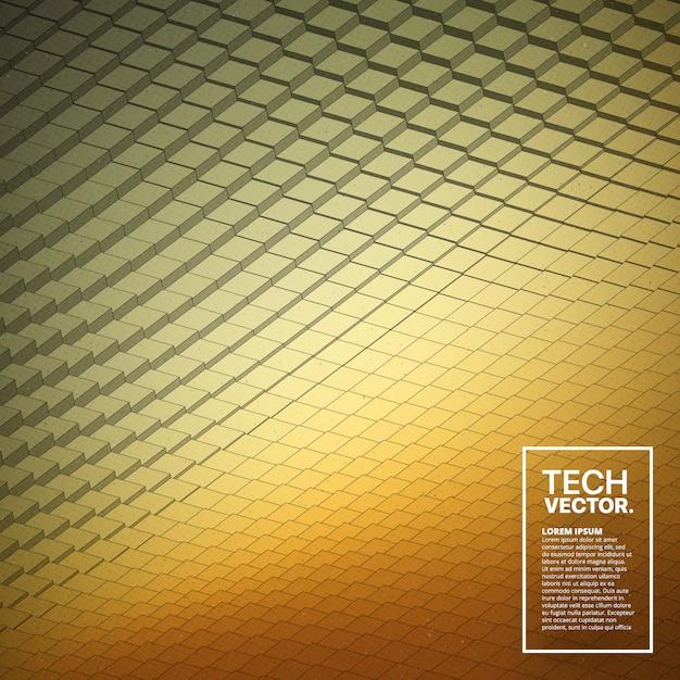 Abstract vector tech waveform backdrop Premium Vector