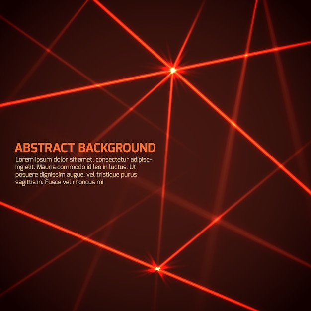Abstract vector technology background with security red laser beams Premium Vector