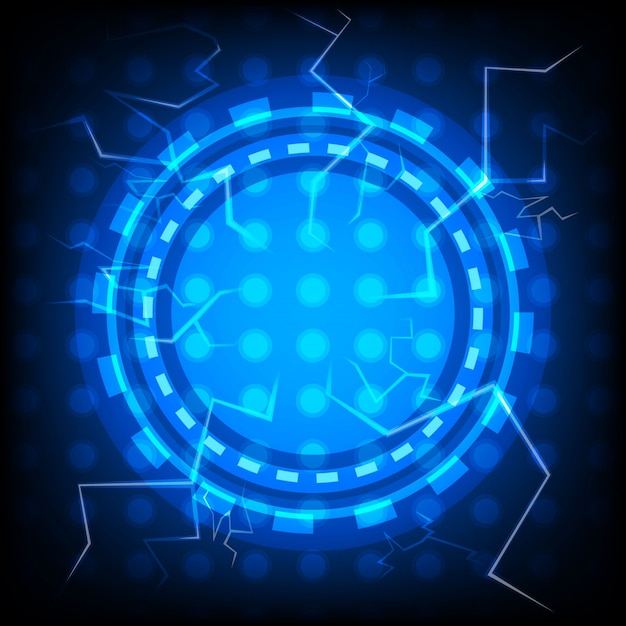 Abstract vector thunderbolt technology background Premium Vector