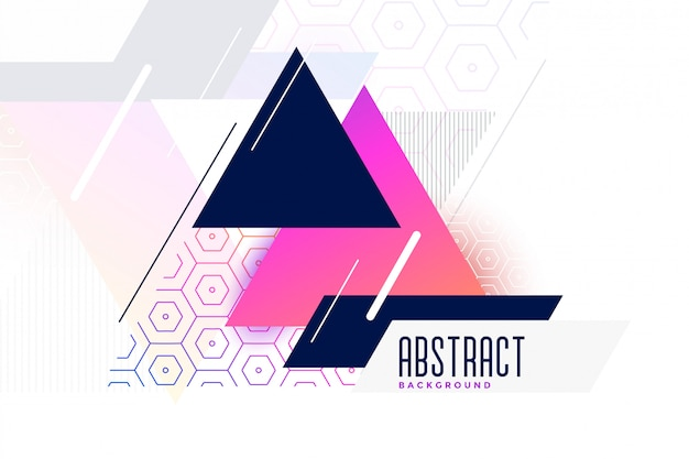 Abstract vibrant memphis triangle background Free Vector