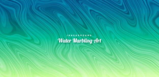 Abstract vibrant water marbling art background Premium Vector