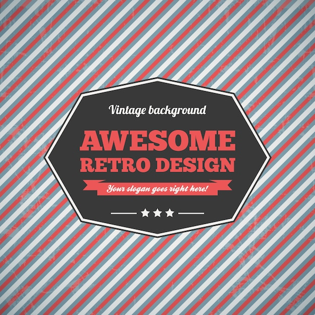 Abstract vintage background. Premium Vector