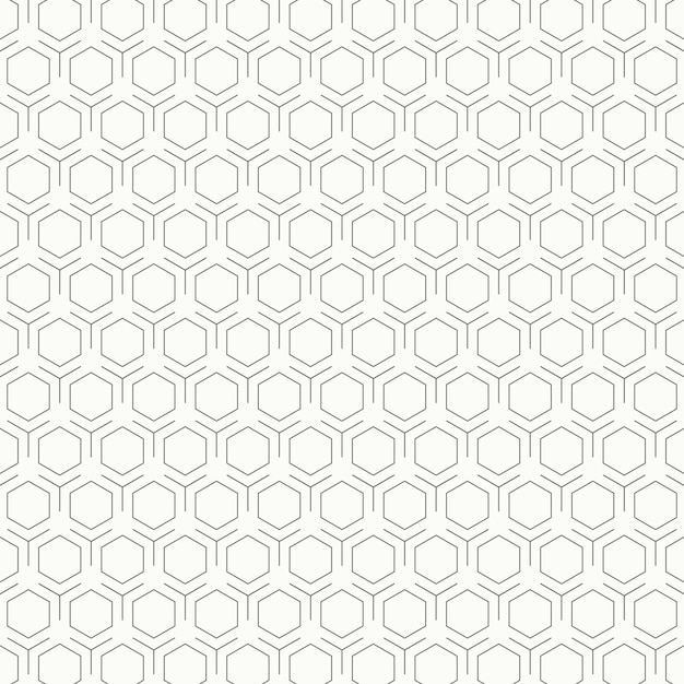 Abstract vintage black and white hexagon pattern design background. Premium Vector