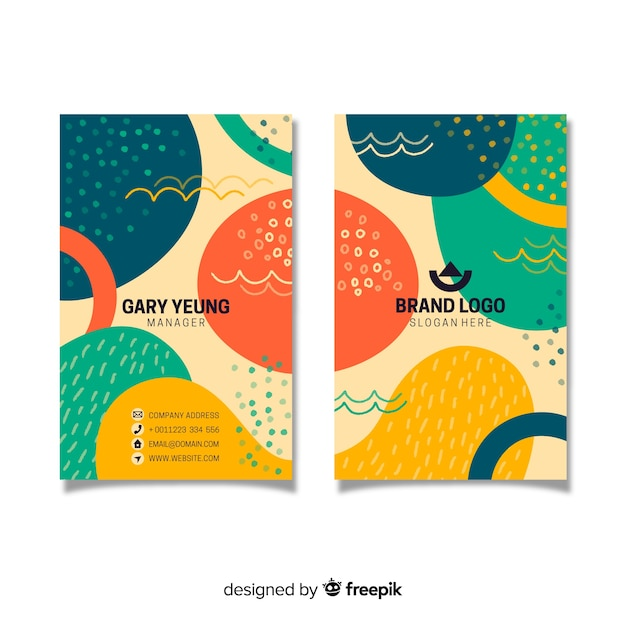 Abstract vintage business card template Free Vector