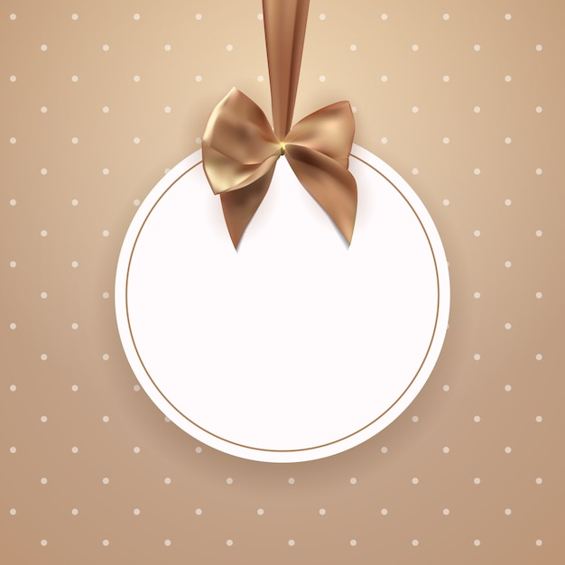 Abstract vintage frame with bow and ribbon Premium Vector