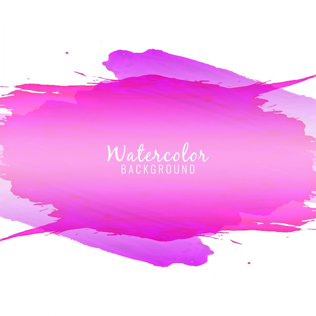 Abstract violet color watercolor stain background