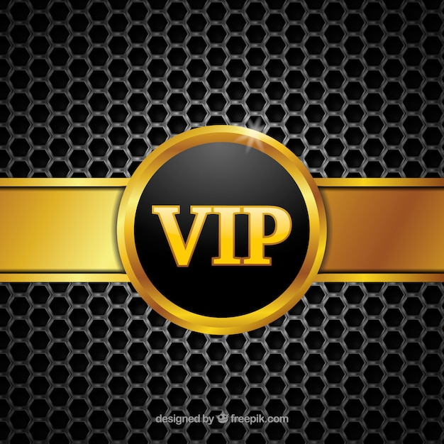 Abstract vip background with golden badge