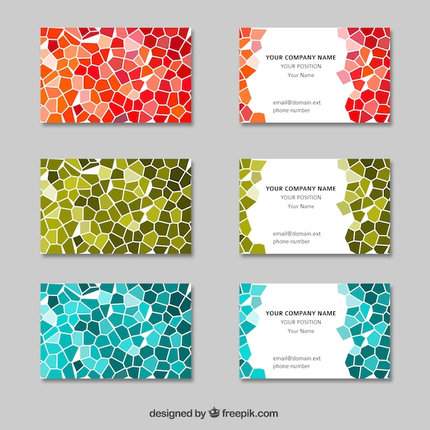 Abstract Visit Cards Vector Free Download