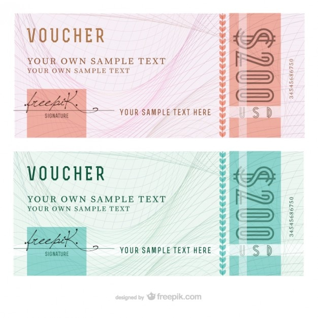 Delightful Abstract Voucher Templates Free Vector  Free Voucher Templates