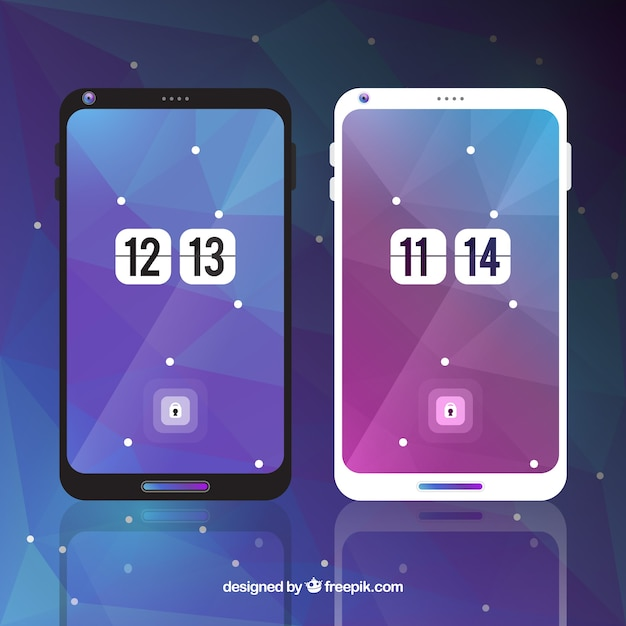 Abstract wallpapers for mobile in purple and blue tones