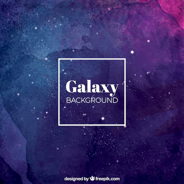 Abstract watercolor background of galaxy