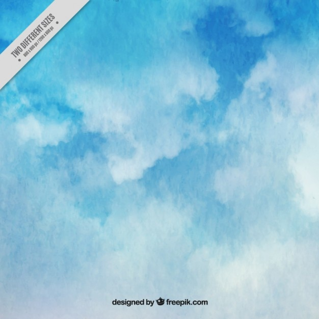 Abstract watercolor background of sky