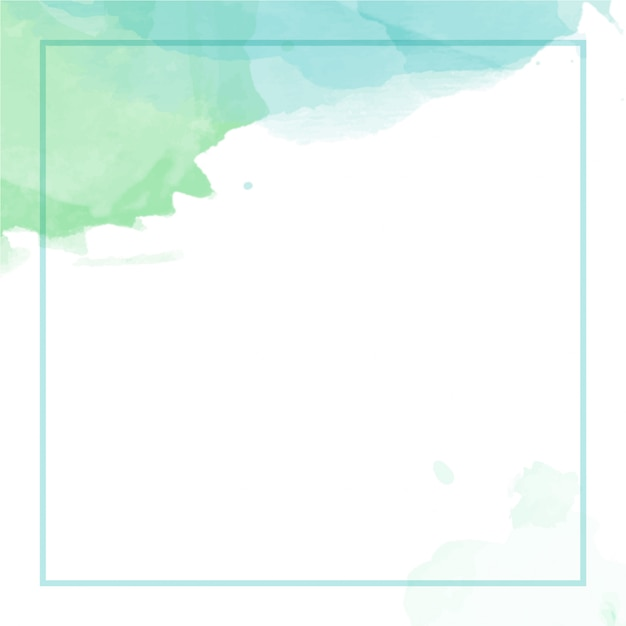 Abstract watercolor background with frame Premium Vector