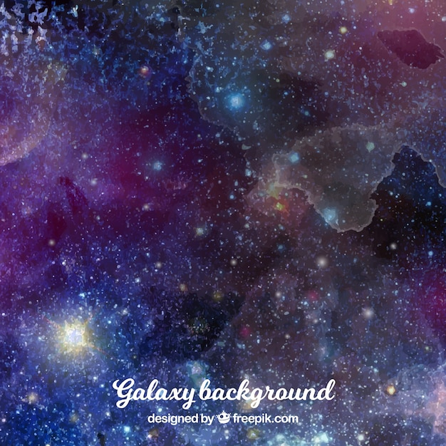 Abstract watercolor background with stars