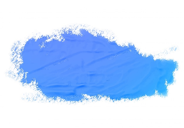 Abstract watercolor blue paint texture Free Vector
