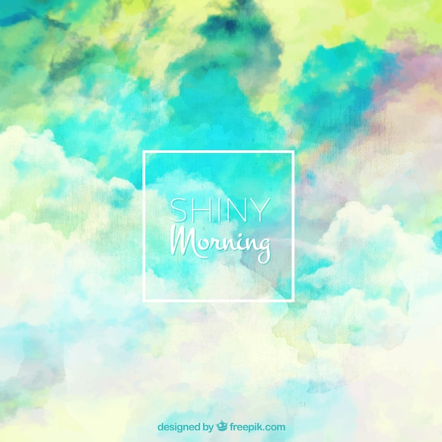 Abstract watercolor colored sky background
