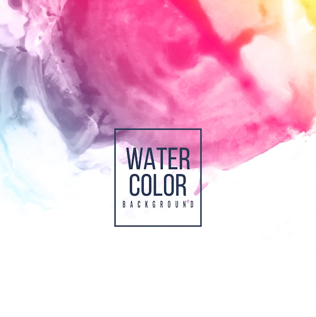 Abstract watercolor  colorful background Free Vector