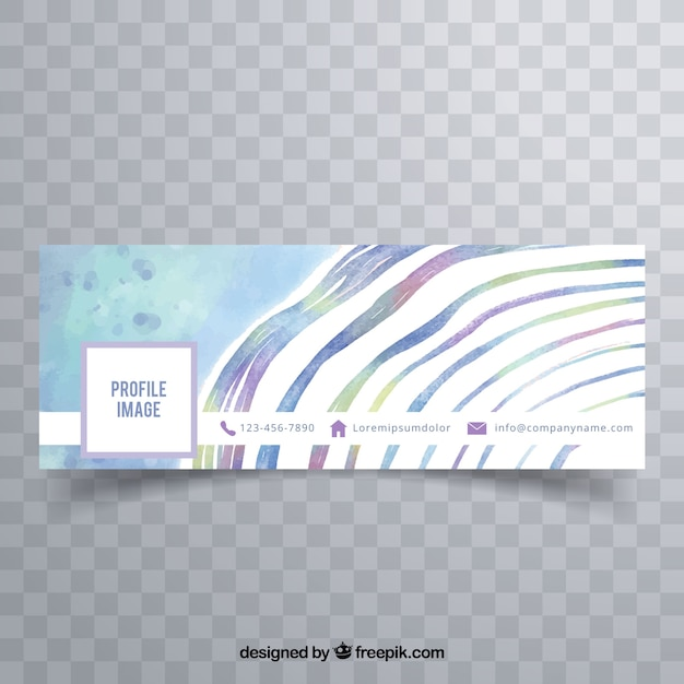 Abstract watercolor facebook cover