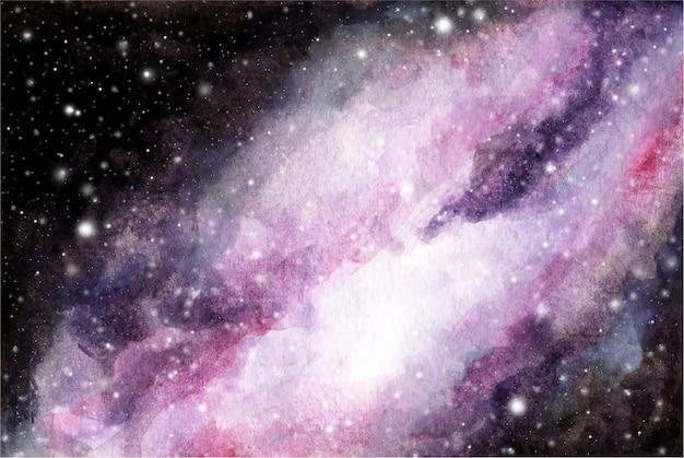 추상 수채화 갤럭시 하늘 배경 프리미엄 벡터