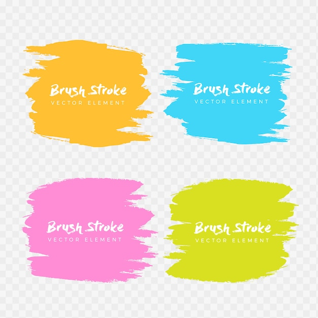 Abstract watercolor grunge brush frame collection Free Vector