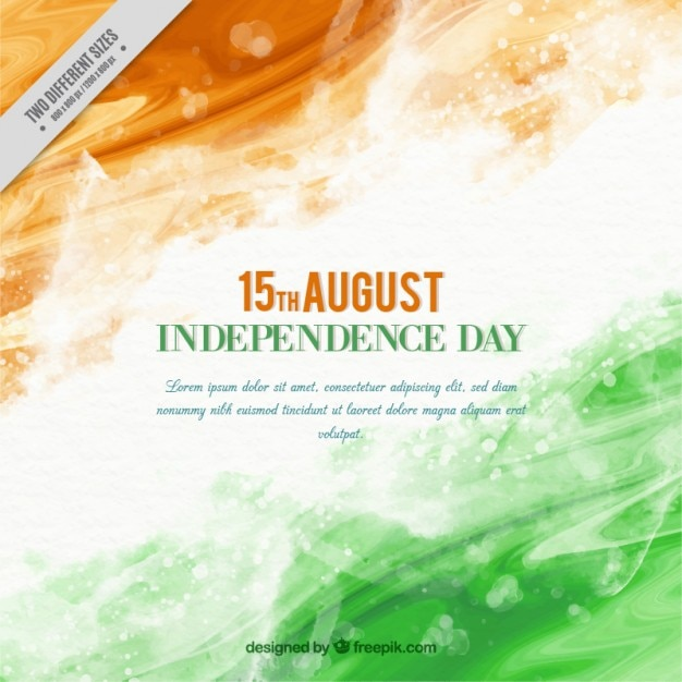 Abstract watercolor independence day of india background Free Vector