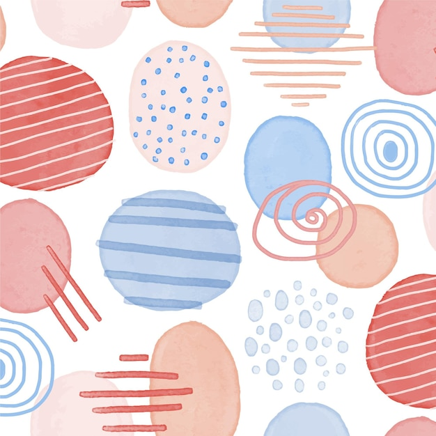 Abstract watercolor pattern Free Vector