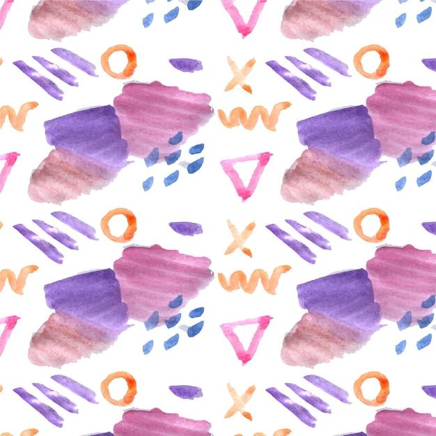抽象的な水彩パターン 無料ベクター