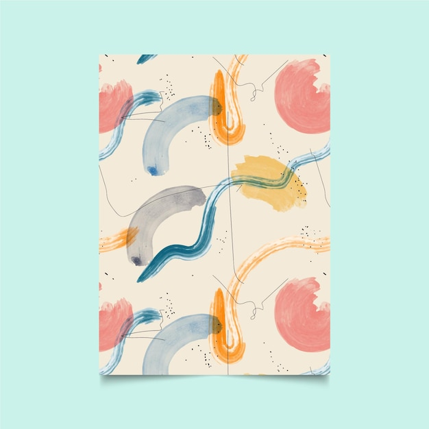 Abstract watercolor pattern Premium Vector