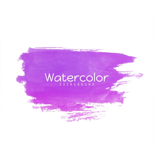 Abstract watercolor pink brush stroke design Free Vector