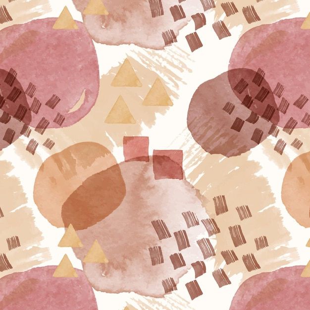 Abstract watercolor seamless pattern texture Free Vector