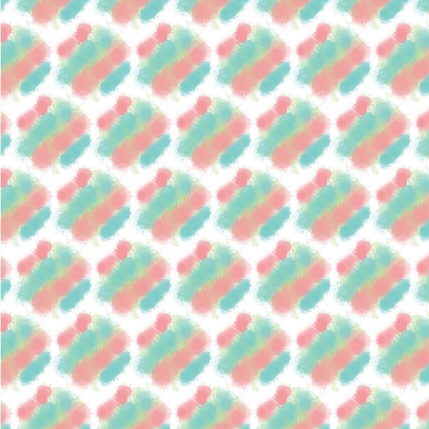 추상 수채화 원활한 패턴 무료 벡터