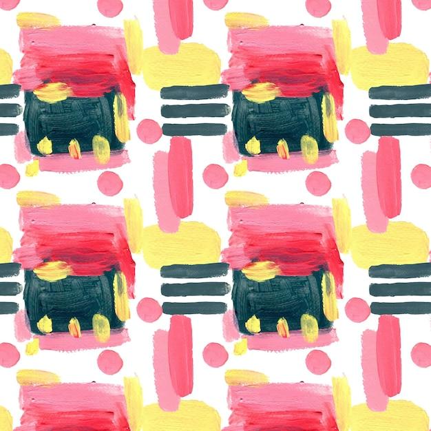 抽象的な水彩のシームレスなパターン 無料ベクター