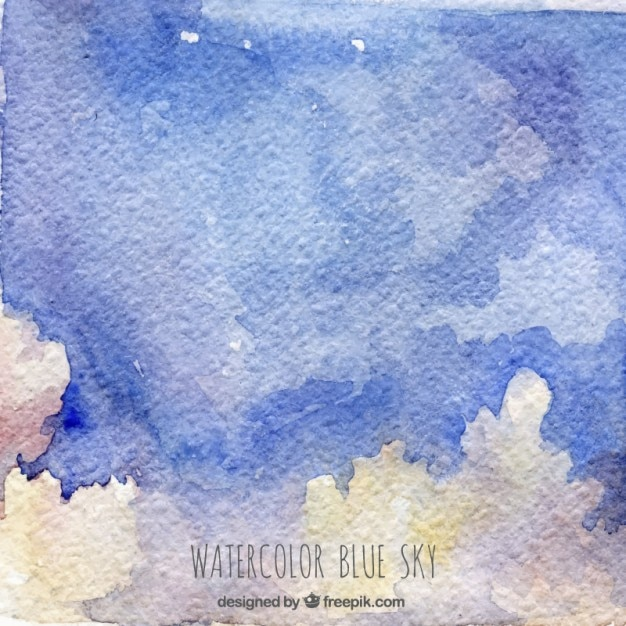 Abstract watercolor sky Free Vector