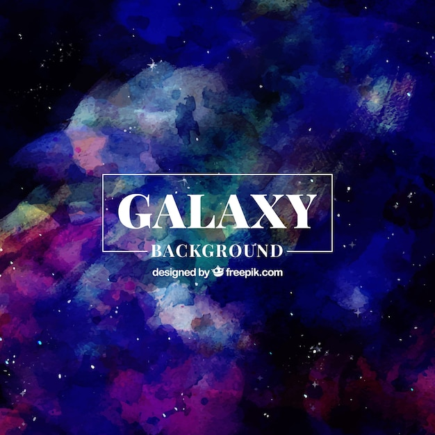 Abstract watercolor space background