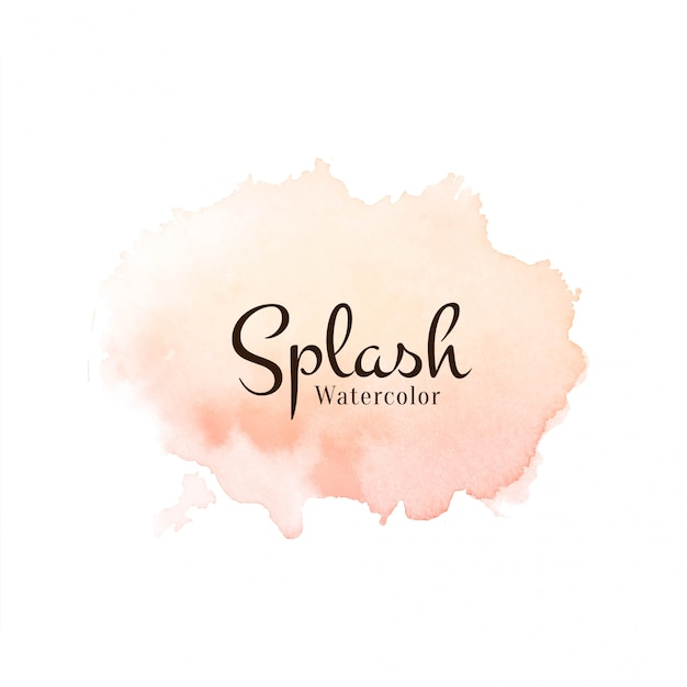 Abstract watercolor splash Free Vector