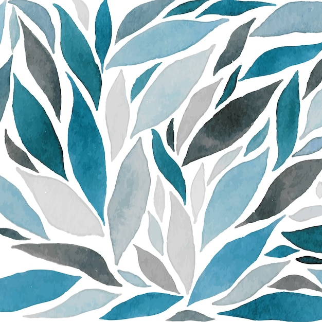 Abstract watercolor waves composition Free Vector
