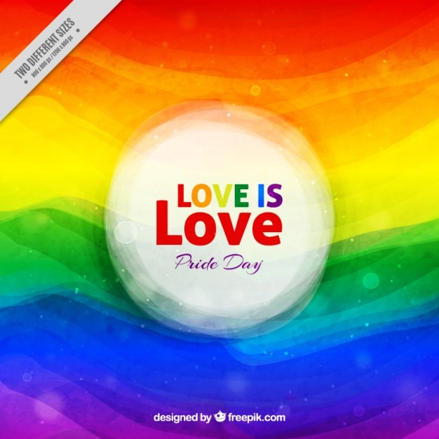 Abstract watercolor weaves pride day background Free Vector