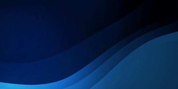 現代の企業コンセプトと抽象的な波背景ダークブルー Premiumベクター