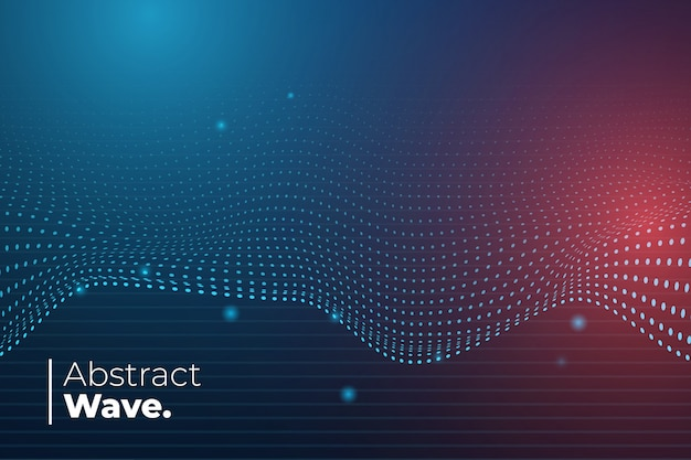 Abstract wave background Free Vector