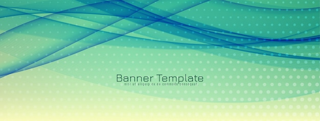 Abstract wave banner design Free Vector